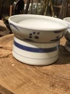 砥部焼 ペット専用くらわんか茶碗小 呉須太陽 フード入れ