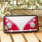 ワーゲンバスiPhone7/7Plusケース VW Early BUS RED