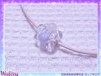 ブルーレースアゲート×ローズクォーツ×水晶 花玉ペンダント