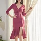 【dress】OLフェミニンな雰囲気絶妙なデザインワンピース25109265