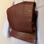 正絹 深い小豆色の京袋帯