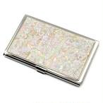 天然貝 名刺カードケース(星のかけら)<螺鈿アート>