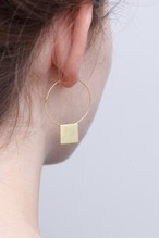 ◇STATE OF A◇ Earring Creole Square(Item No 11559)