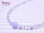 ブルーレースアゲート×水晶 ネックレス