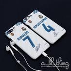 「LALIGA」レアルマドリード 2017-18シーズン ホームユニフォーム クリスティアーノロナウド Cロナウド サイン入り iPhoneX iPhone8 ケース