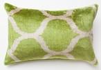 """Light Green Onion""   40cm x 60cm〔表ベルベット 裏イカット〕"