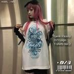 D/3 『GENk×D/3 ロゴTシャツ』白×青