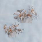 Silver leaf head dress《和の香》
