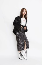 Side Slit Dalmatian Skirt