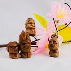 可愛い木彫りのマイ仏像アクセサリー