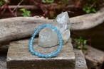 透き通るブルー★透明 アクアマリン ブレスレット 小 aqua011