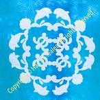 80cmタペストリー パターン(型紙)* シェルとイルカとホヌのタペストリー