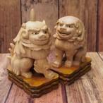 可愛い手のり一笑狛犬(京都八坂神社神殿狛犬より)