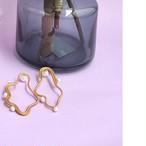Vague circle earrings gold