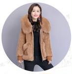【真冬でもほっとする暖かさ★】ふわふわファーボアコート あったかフード付き [ゆったりサイズあり]ブラウン