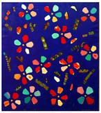 油彩画*青いサクラ*2008
