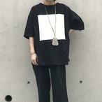 unscrum プリントTシャツ BLK×WHT【20SS】
