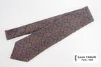ルイファグラン|クラヴァット ボワバン|コラボ|稀少|'50~'80年代デッド生地使用ネクタイ|ペイズリー柄|ネイビー系