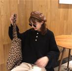 ポロシャツ風 ニットセーター 長袖【0393】
