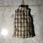 [used] like burberry check down vest