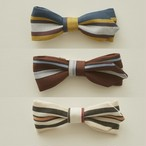 eLfinFolk エルフィンフォルク Regimen stripe bow tie color:blue・brown・ivory