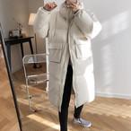 ハイネックロングダウンジャケット ダウンコート レディース ブランド 人気 ロング 暖かい 色 人気 エレガント 襟 おすすめ 大きいサイズ かわいい 韓国 可愛い きれいめ 着痩せ 着こなし 通販 通勤 定番 黒 白 ハイネック 【2687】