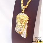 ジーザス ジルコニア GOLD ゴールド 金 ネックレス ヒップホップ HIPHOP 488