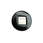 【VINTAGE  CELINE BUTTON】シルバースクエア ブラック ロゴボタン  1.7cm L-20004