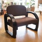 思いやり膝に優しい高齢者向け木製高座椅子 立ち座り楽々サポート肘掛付き 高さ3段階調整 [ブラウン] タタミ和式チェア コンパクト スツール 組み立て式木製座椅子