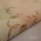 【S様ご予約品】正絹ちりめん 砥の粉色に金糸の帯揚げ