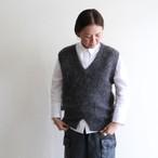JUN MIKAMI【 womens 】shaggy alpaca v-neck vest