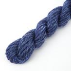 シルクメリノ 紺系ツイード ゲージ用サンプル糸(silk_M9)手紡ぎ毛糸オーダー(送料込)