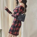【dress】注目されるボートネック大人っぽいワンピース24999672