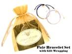 【ペアブレスレットSet】Check Patterned Bracelets&Gift Set[ペアアクセサリー]