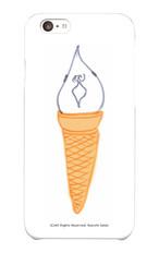 【1点もの】スマホケース「ソフトクリーム ゆらセンパイ」