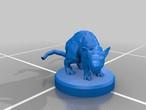 ジャイアントラット(6体入り)3Dプリントモデル