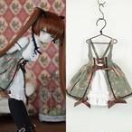 MDD用OFおしゃまジャンパースカート(モスグリーン花柄リボン)