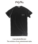 POLYPLUS apparel Long length  Pocket T-shirt / BLACK