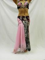 エジプト製 ベリーダンス衣装 コスチューム ピンク&ブラック