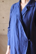 Linen shirt (Navy) リネン-オープンカラーシャツ