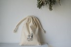 タキハナヤスカズ 巾着袋「ハリストス教会 」 シルクスクリーン手刷り