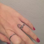 pink opal vintageガラスの鍵RING #1732