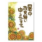 暑中見舞い「ひまわり畑」(100枚入)