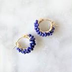 送料無料14kgf*Lapislazuri pavé earring / pierced earring