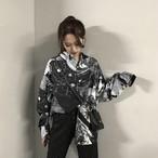 【tops】超人気配色POLOネックシャツ22040343
