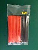 ★ φ8.0mm熱収縮チューブ、収縮率約50% シュリンクチューブ φ8.0mm×10㎝ 赤&黒各5本