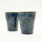フリーカップ 藍彩線彫り【石倉陶器所】