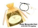 【ペアブレスレットSet】Brass Beads Bracelets&Gift Set[ペアアクセサリー]