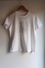 YAECA STOCK#88007プリントTシャツCHIPS、レディース