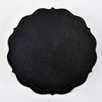 [木下和美]黒釉輪花プレート